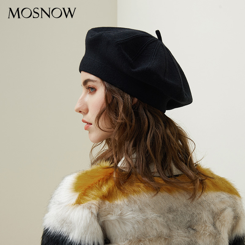 d1e9be2758a Drop Shipping Beret Female Wool Knitted Hats 2018 New Brand Stylish Winter  Warm Beanie Women Painter Bonnet Hats For Girl Berets-in Berets from  Apparel ...