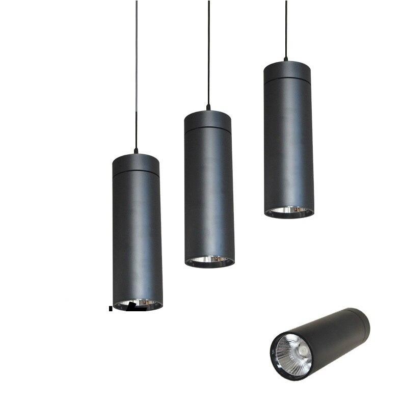 Foco de tubo colgante de 12 W COB, cuerpo de lámpara de 10 cm de longitud redonda x 30 cm
