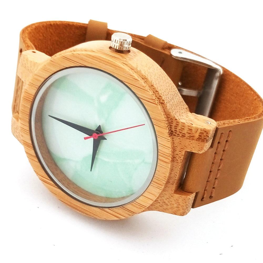 Բամբուկե փայտյա ժամացույցներ - Կանացի ժամացույցներ - Լուսանկար 3
