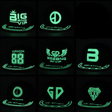 8657b04a Kpop BIGBANG bright men and women cap baseball cap flat cap hat hip hop  fluorescent glow