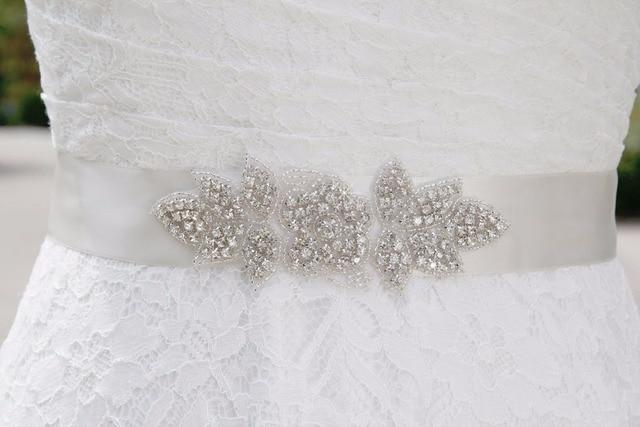 Shiny Bridal Belt for Wedding Dress Beading Rhinestone Belts for Wedding Dresses