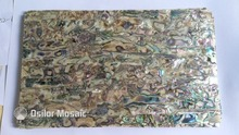 Natural abalone paua shell laminate for musical instrument and furniture inlay