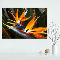 Nice Custom Bird Of Paradise Flower Canvas Poster Print Painting Art Wall Silk Poster Cloth Print