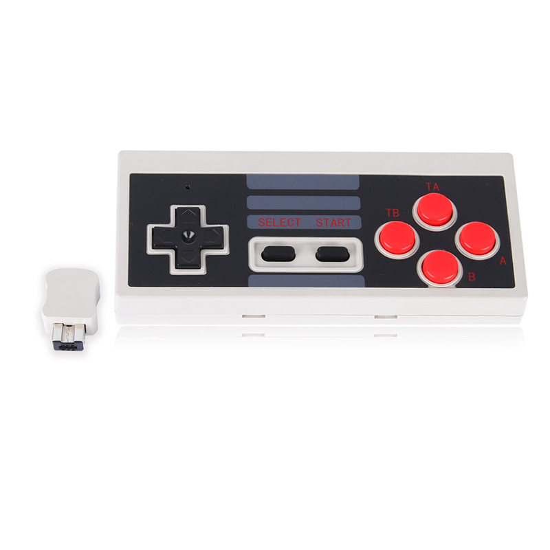 Newest 2.4GHz Wireless 5M Receive Distance Gaming Controller For NES Mini Console For NES Classic Edition Gamepad With Recevier