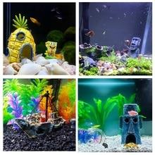 Aquarium Fish Tank Decoration landscaping SpongeBob & Squidward House Portrait Ship dodge Ornaments Decor Toy