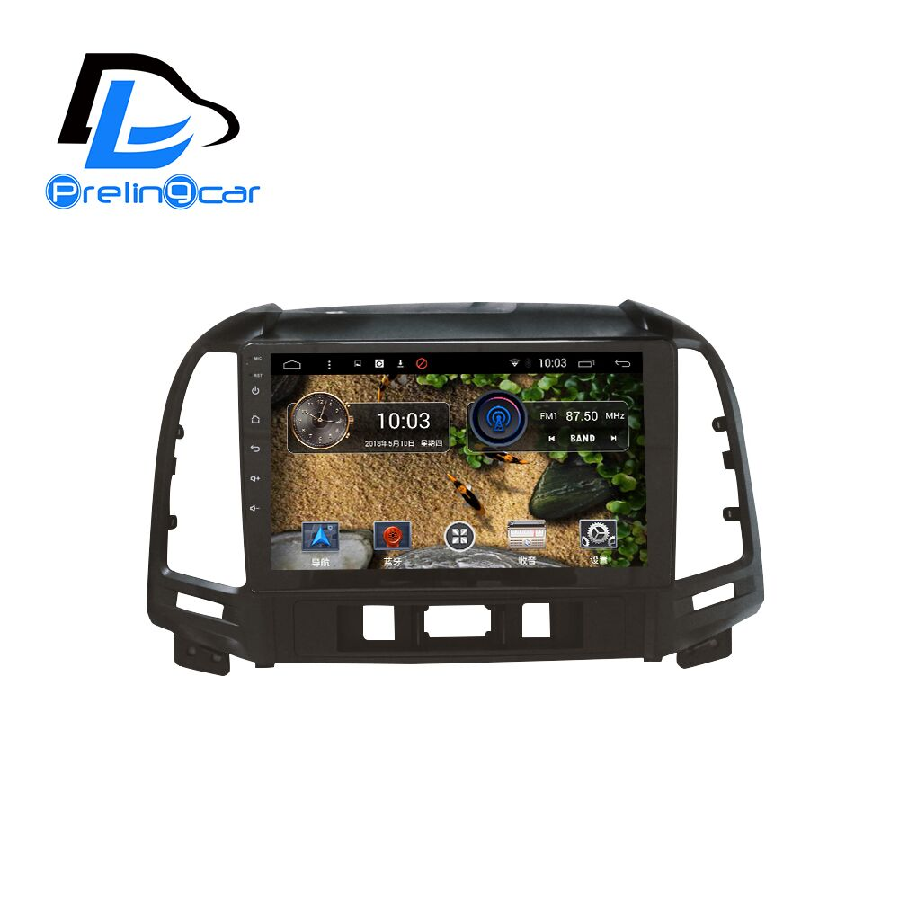 android 7.1 car gps multimedia video radio player in dash for HYUNDAI Santa fe santafe 2005-2012 year navigation stereo boodun bd b04 bicycle bike top tube double bag black