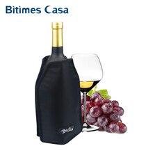 Вино Шампанское Охладитель Рукава нейлоновая конструкция с эластичным существенным гелем долгое время охлаждающий ужин вечерние для пикника вино охладитель