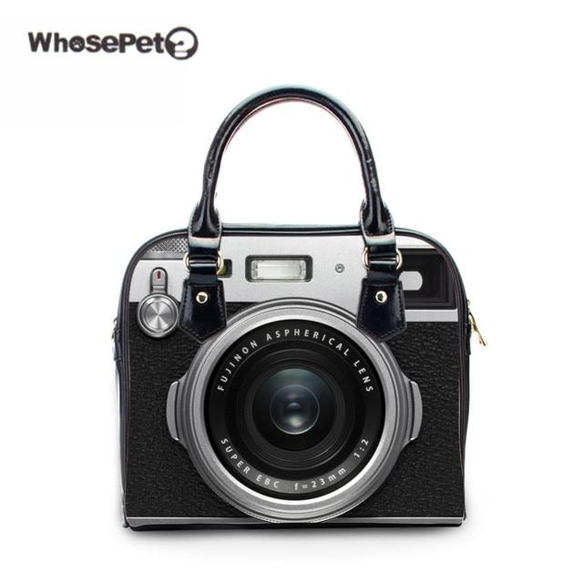 da885b7ba0 WHOSEPET Women camera bag handbags Women vintage PU small tote bag Women's  bolsa feminina Famous Ladies Flaps bag 2d 3d