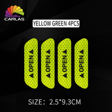 4pcs Car Door Sticker Decal Warning Tape Car Reflective Stickers Reflective Strips Car-styling 4 Colors Safety Mark Car Stickers car vehicle safety reflective stickers green size l pair