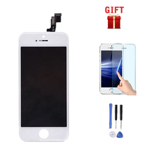 Wholesale For Iphone 5s tela LCD Display+Touch Panel Screen Pantalla Digitizer+Frame Assembly black/white color free shipping