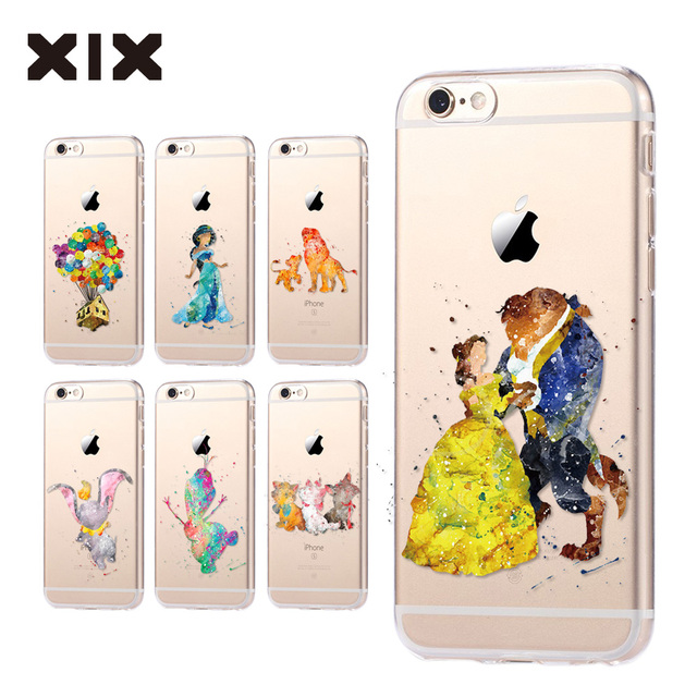 For fundas iPhone 6S case 5C 5S 6 7 8 Plus Princess soft silicone TPU cover 2016 new arrivals original for coque iPhone 7 case