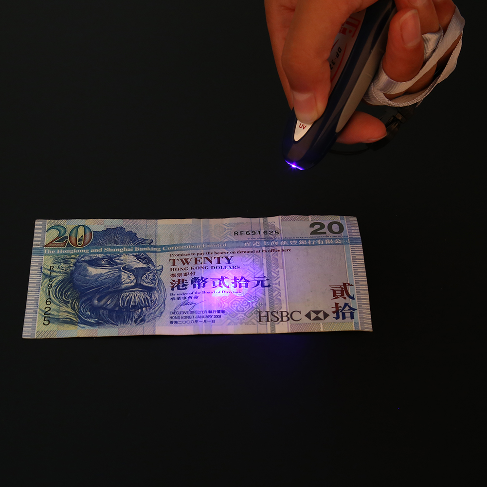 mini worldwide uv laser pen currency money detector counterfeit checker for id passports secure document high