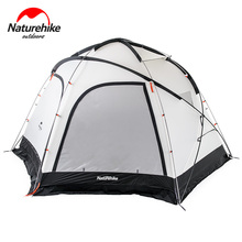 Naturehike factory sell new Cloud Burst Shelter 8-10 people Tent for Family team large camping tent 2 in 1 tent awning