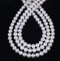 Wholesale AA Natural 9 10mm White Oval Potato Pearl Loose Beads 18 36