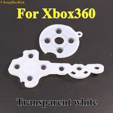 1x kontroler przewodzący gumowe skontaktuj się z Pad przycisk d pad dla Microsoft dla konsoli Xbox 360 kontroler bezprzewodowy wymiana naprawa części