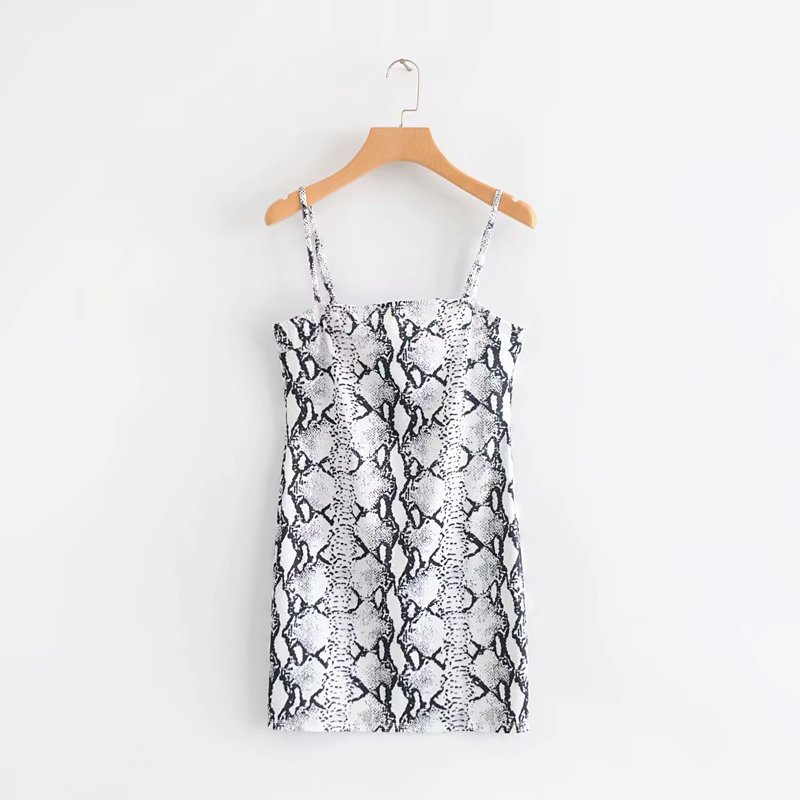 EDGLulu snake print <font><b>dress</b></font> new arrival women clothes 2019 mini <font><b>dress</b></font> sexy club wear mini spring summer beach vacation <font><b>dress</b></font> image