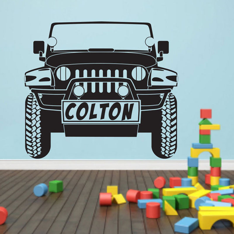 CaCar Cartoon Car Wall Decals Nursery Removable Vinyl Stickers Home Decor Kids Bedroom Wall Stickers Wholesale HT1456