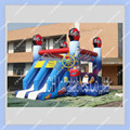 Commercial Quality Inflatable Cars Bounce House with Double Slide,Jumping Bouncy Castle for Kids