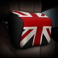 Huai With British English PU Leather Car Seat Pillow Neck Space Memory Cotton Head Neck Soft