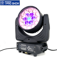 19x15W LED Moving Head Wash Light RGBW Zoom Lumiere Lights Dmx Professional Light For Club Mobile DJ LED Circle Control Effect