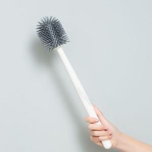 Image 1 - Youpin YJ 수직 저장 화장실 브러시 부드러운 접착제 Bristles 화장실 브러시 및 브래킷 세트 욕실 화장실 청소 도구
