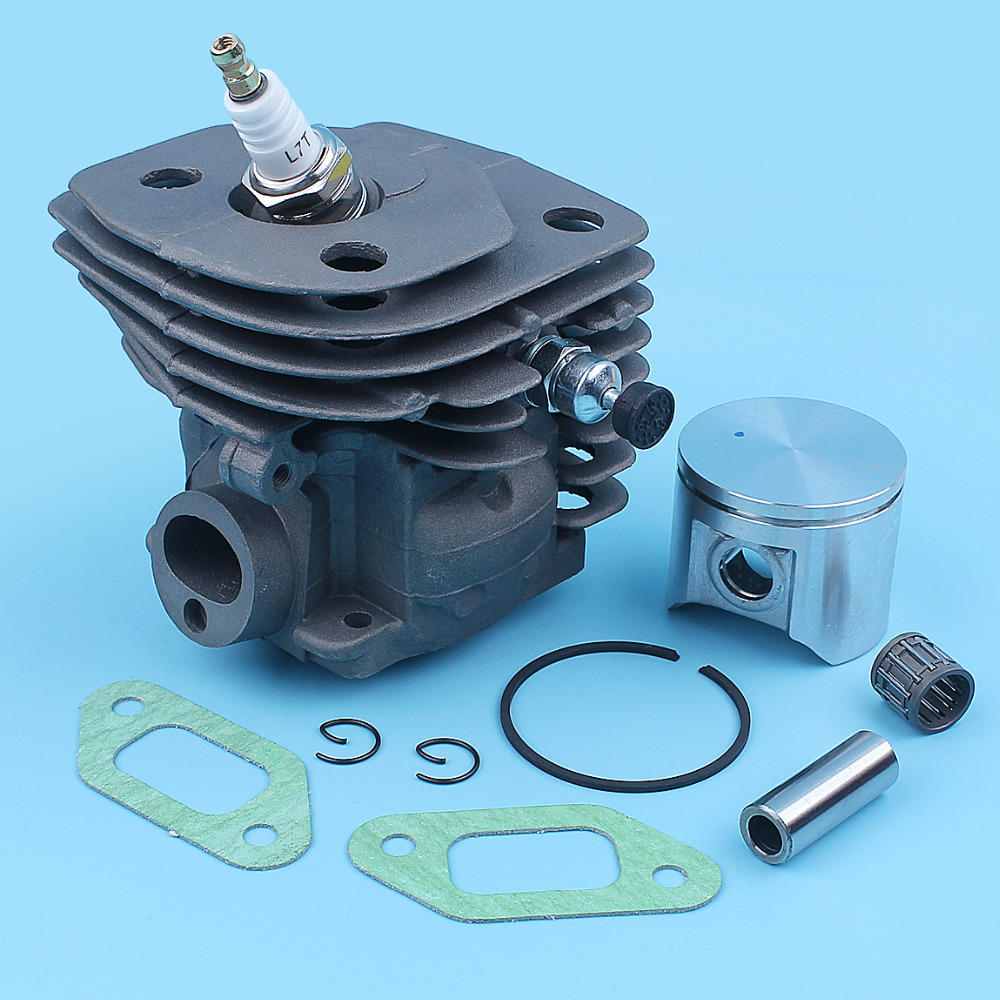 47mm Cylinder Piston Kit For Husqvarna 359 357XP 357 XP EPA Chainsaw Nikasil Coated Big Bore Decompression Port Spare Part