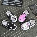 Los bebés de los muchachos planos shoes anime cartoon mickey y gatito niños zapatillas lona de los niños casual shoes 2 colores