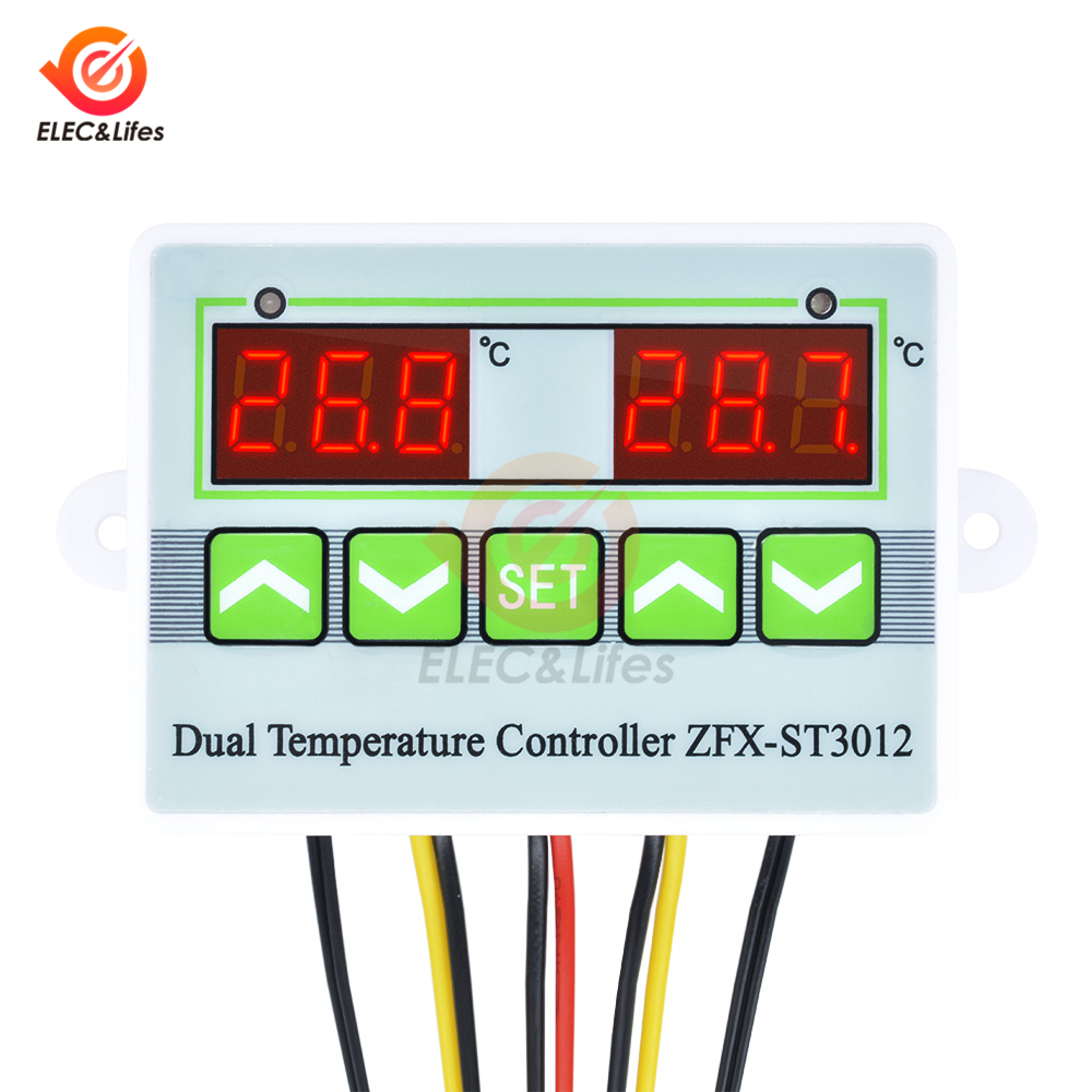 Intelligent Thermostat Switch Humidity Temperature Controller DC 24V Digital