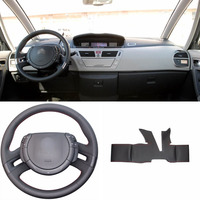 DIY Sewing on PU Leather Steering Wheel Cover Exact Fit For Citroen C4 Picasso