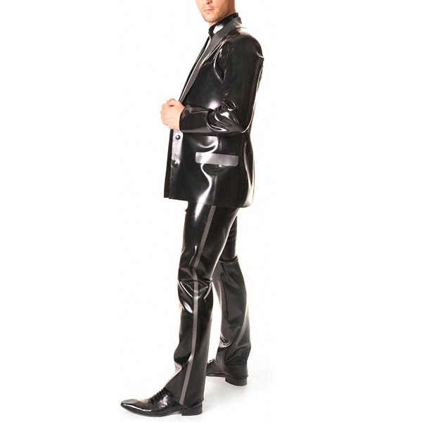 0,6 мм толщина латексные резиновые длинные брюки латексные джинсы брюки для мужчин (без верха)