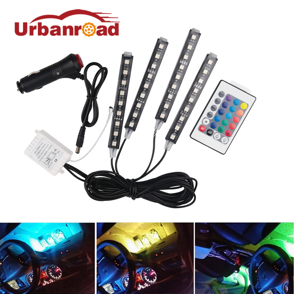 12v  car rgb led strip light atmosphere wireless remote atmosphere lamps car interior light with remote interior floor 12V Auto sales of new sensor light strip with high quality and convenient multi functional 3w 6w outdoor home decor led strip light lamps