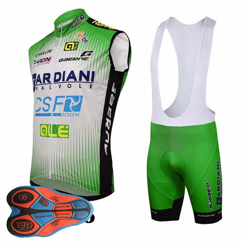 2018 Summer Cool Pro Team Cycling Jersey Sets Sleeveless Quick-Dry Ropa Ciclismo Cycling Jersey GEL Pad Bicycle Clothing