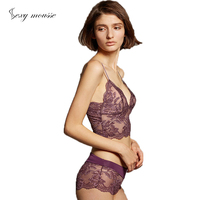 sexy mousse broadside embroidery bra and lace pantie luxury intimates women purple lace bra lingerie set lace top