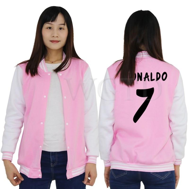 Bescheiden Cristiano Ronaldo 7 Baseball Jacke Frauen Männer Casual Jacken Sportswear Sweatshirt Jungen Mädchen Fleece Warme Jacken Mantel Dauerhafte Modellierung