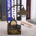 Figura gato Lâmpada de Mesa candeeiro de Mesa de Resina Flexível Gooseneck Luz Noturna Luz de Leitura