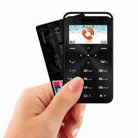 2018 TOP FASHION CARD PHONE Thin Slim 1.0inch Mini Pocket Card 2G Cell Phones Bluetooth GSM