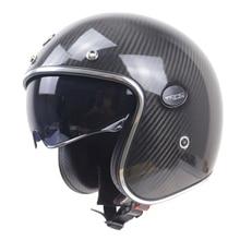 Open face moto casque Kelver Casque En Fiber De Carbone Avec Interne Noir lunettes de soleil de POINT ECE appproved casque