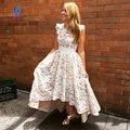 2017 Moda Alta Baixa Renda Prom Vestidos Vestido de Noite V Voltar Longa Zipper Mulheres Vestidos Vestido De Festa