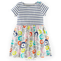 New 2017 Summer Branded 100% Cotton Baby Girls Dress Toddler Children Clothing Kids Clothes Girls Casual Little Dress Baby Girls