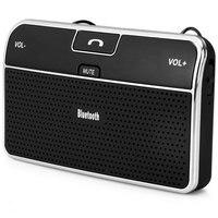 Universal Bluetooth 4.0 Bluetooth Car Speakerphone com Orientação Por Voz Handsfree Chamando Carregador Adaptador para Telefone Celular Tablet