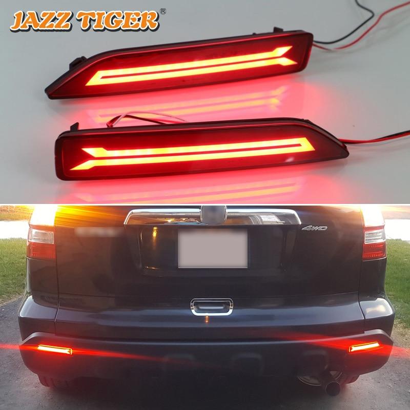 Jazz Tiger 2pcs Car Led Rear Fog Lamp Brake Light Reflector Bumper