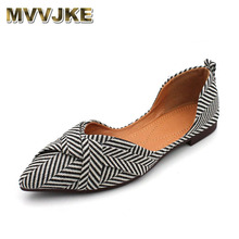Boat Shoes Flats Women Pointed-Toe Comfortable Woman Summer Shallow MVVJKE Casual Striped