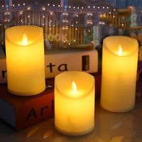 flameless battery operated led pillar plastic candle, candle light for wedding,birthday,Club,Outdoor activities decor.led light