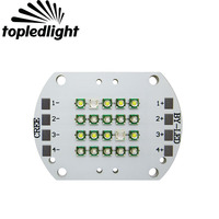 Topledlight DIY 4 채널 20LED 크리 XPE XP-E 화이트 10000 천개 로얄 블루 455NM 블루 470NM에서 + Epileds UV 자외선 420NM Led 램프
