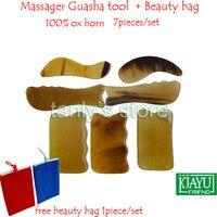 Good Quality Massage Guasha Tool Woman Beauty Scraping Plate 100 Ox Horn 1 S 1 C