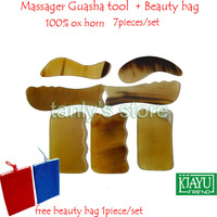 Good Quality Massage Guasha Tool Woman Beauty Scraping Plate 100 Ox Horn 1 S 1 C