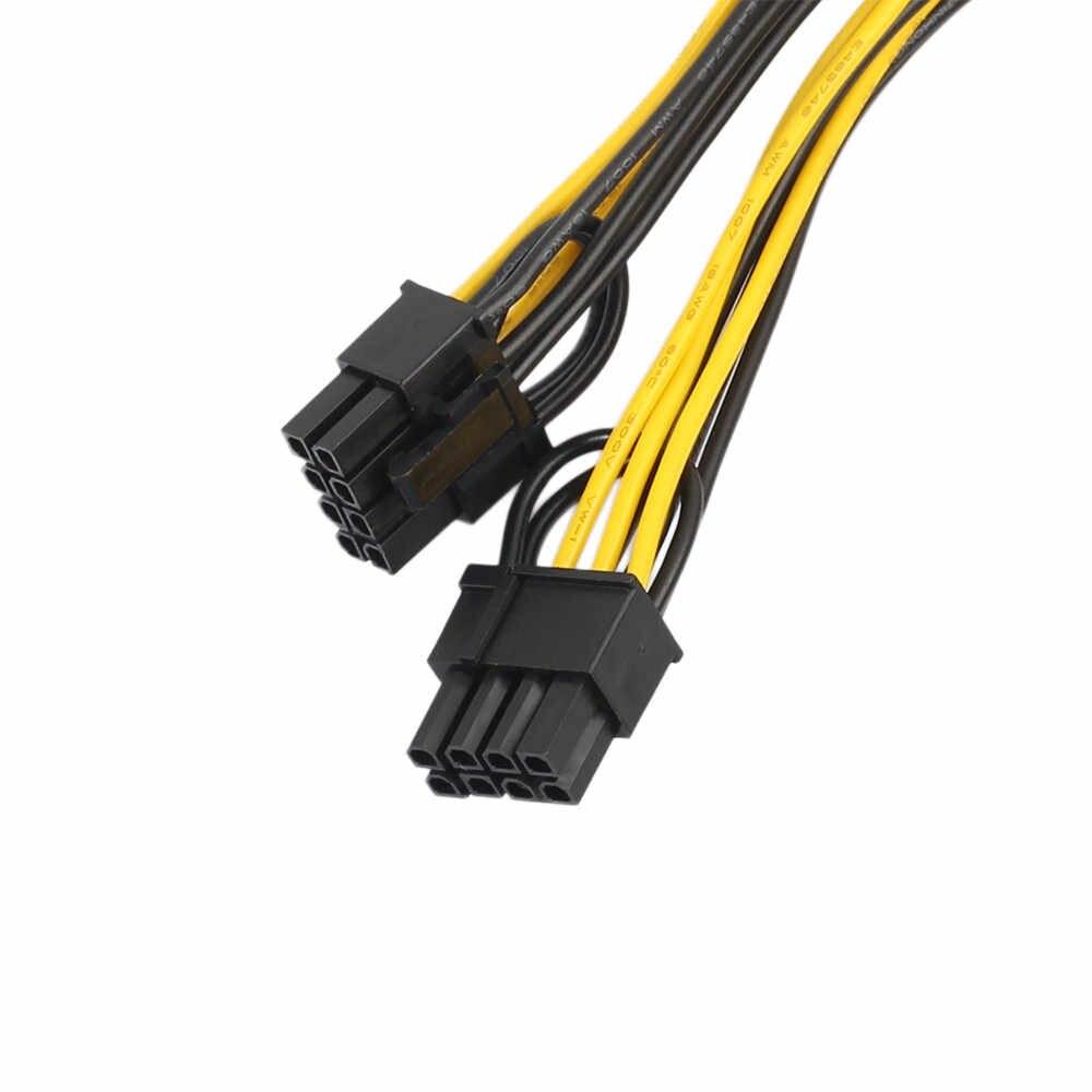 عالية الجودة جديد الطاقة تمديد كابل PCI-E 6 دبوس إلى 2x6 + 2 دبوس (6 -دبوس/8 دبوس) الطاقة الفاصل كابل بكيي PCI اكسبرس l0914 #3