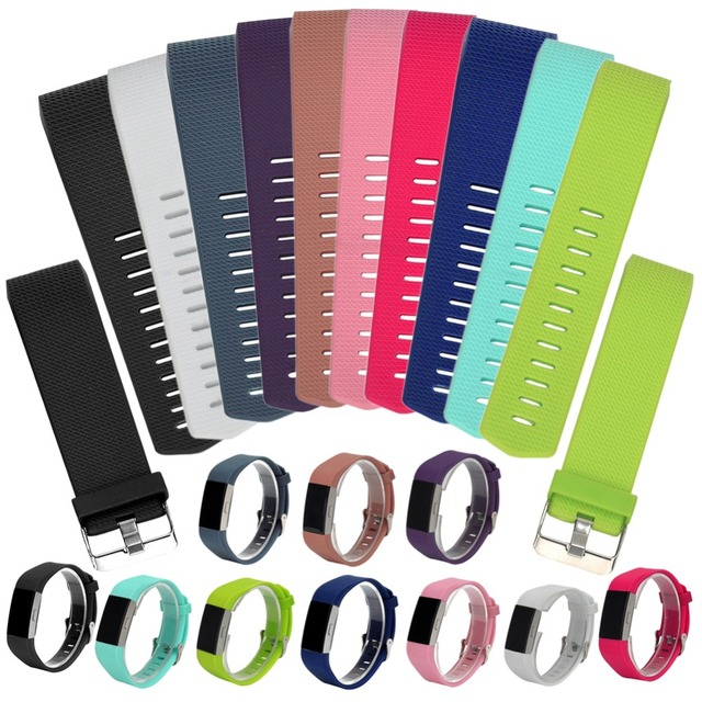 ALLOYSEED Silicone Watchband Dây Đeo Ban Nhạc Thay Thế Vòng Đeo Tay Thông Minh Với Khóa Kích Thước S/21 cm L/23 cm Cho fitbit Phí 2 Đồng Hồ