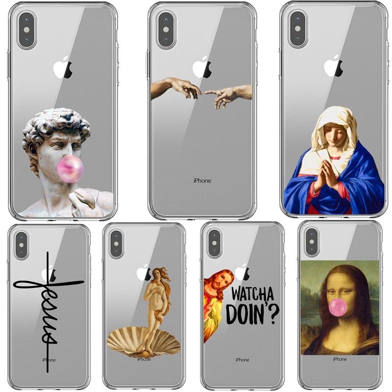 Birth of Venus Mona Lisa funny Alternative statue art Pattern Case For iPhone 11 Pro Max 2019 XS XR XS MAX 5S SE 6 6S 7 8 Plus