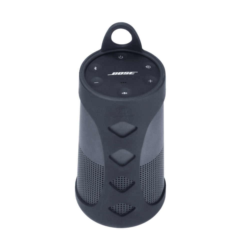 Nieuwe Premium Siliconen Case Sling Cover Carrying Sleeve Pouch Case voor Bose SoundLink Revolve Bluetooth Speaker-Slagvast